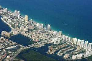 Aerial view of Sunny Isles Beach