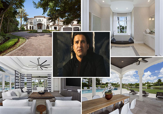 The home at 8812 Twin Lake Drive (Credit: © Edward Butera | ibi designs inc. | Boca Raton | Florida) and Scott Stapp, former Creed lead vocalist (Credit: creative commons user Lunchbox LP)
