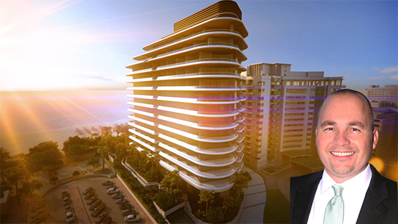 Rendering of Faena House and Peter Zalewski