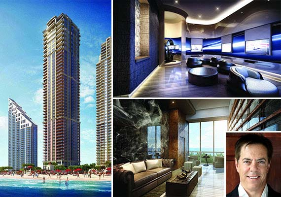 Renderings of the newly completed Mansions at Acqualina (Credit Neoscape) and Dennis Riese