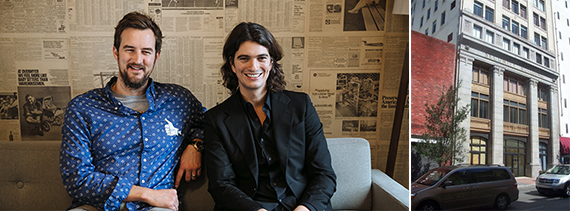 WeWork's Miguel McKelvey and Adam Neumann and the Security Building in downtown Miami