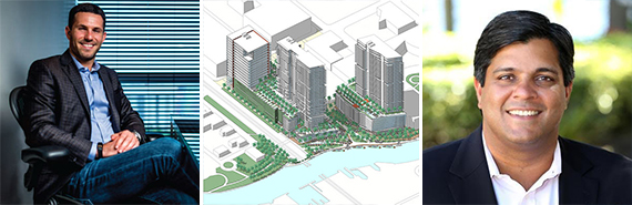 Ryan Shear, proposed rendering of the Las Olas Riverfront and Dev Motwani