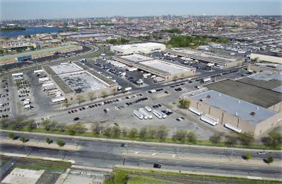 Aerial view of Hunts Point Food Distribution Center