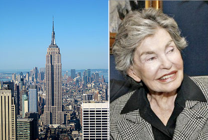 From left: Empire State Building and Leona Helmsley