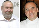 From left: Yitzchak Tessler and Jean Georges