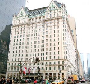 The Plaza Hotel at 768 Fifth Avenue in Midtown