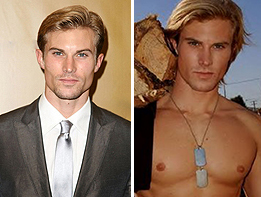 From left: Christopher Austad the agent and the former model