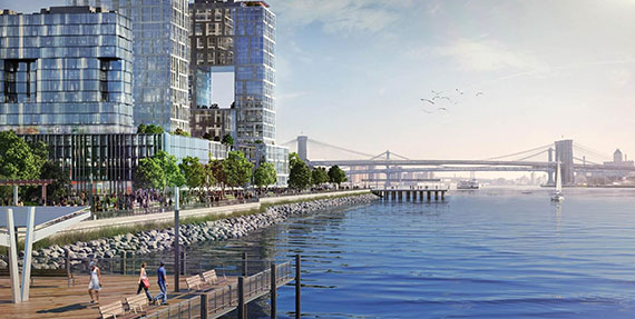 A rendering of Seaport City