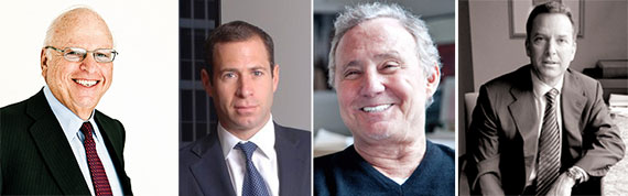 From left: Howard Lorber, Richard Mack, Ian Schrager and Steven Witkoff