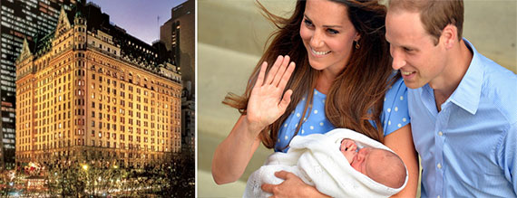 The Plaza, the Duke and Duchess of Cambridge and Prince George