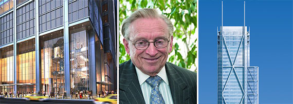 Larry Silverstein and 3 World Trade Center renderings