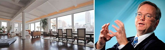 Eric Schmidt and the penthouse at 31 West 21st Street