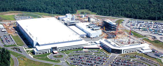 GlobalFoundries' 2.4-million-square-foot facility in Upstate New York