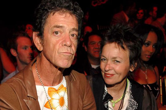 From left: Lou Reed and Laurie Anderson