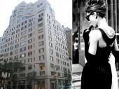 From left: 747 Madison Avenue and Audrey Hepburn in Breakfast at Tiffany's