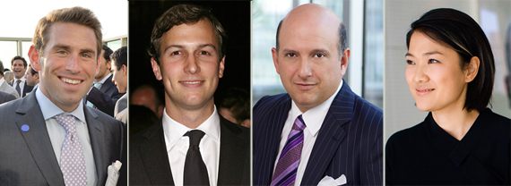 From left: Jason Meister, Jared Kushner, Nicholas Schorsch and Zhang Xin