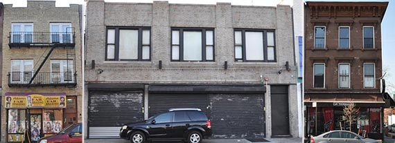 From left: 502 Franklin Ave., 1073 Atlantic Ave. and 1116 Bedford Ave.