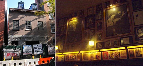 From left: 86 Bedford Street and Chumley's interior before the TK closing