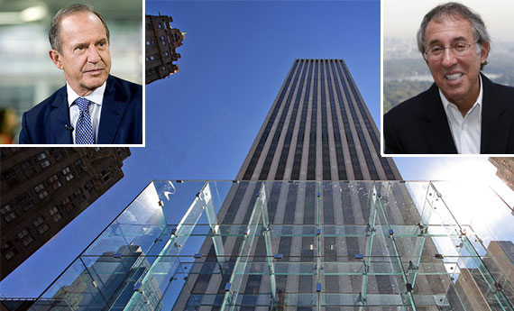 From left: Mort Zuckerman, the GM Building at 767 Fifth Avenue and Ron Baron