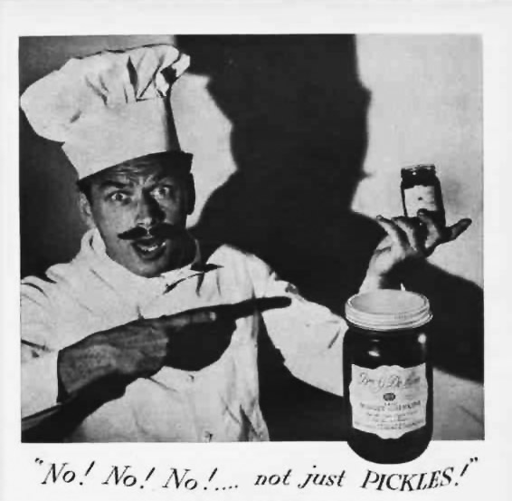 An advertisement for B&G Pickles from 1946