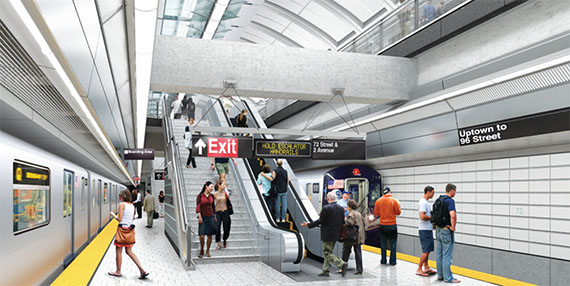 Second Avenue Subway station rendering