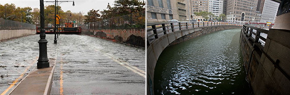 Flooding after Hurricane Sandy at the Brooklyn Battery Tunnel