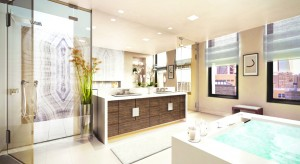 A rendering of Delos at 66 East 11th Street