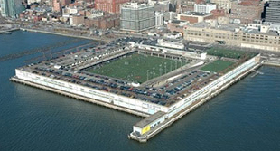 Pier 40 in Lower Manhattan