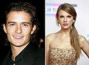 From left: Orlando Bloom and Taylor Swift