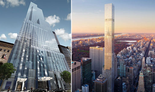 From left: 157 West 57th Street and 432 Park Avenue