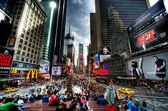 Home sweet home... in Times Square?