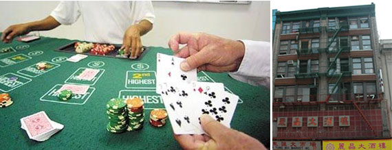 A game of pai gow poker and 35-37 East Broadway