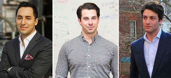 From left: RE: Tech's Ashkan Zandieh, View the Space's Nick Romito and Thrive Capital's Joshua Kushner