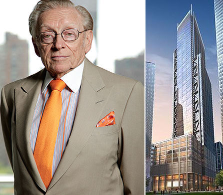 Larry Silverstein and a rendering of 3 World Trade Center
