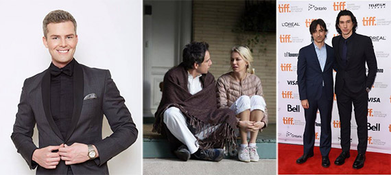 "From left: Ryan Serhant, Ben Stiller and Naomi Watts in ""While We're Young"" and Noah Baumbach with Adam Driver at the Toronto International Film Festival"