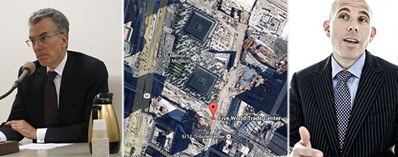 From left: David Emil, WTC Tower 5 location and Scott Rechler
