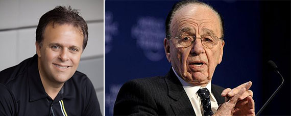 From left: Move Inc. CEO Steve Berkowitz and Rupert Murdoch