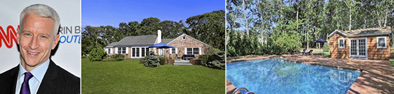 From left: Anderson Cooper and his Quiogue home