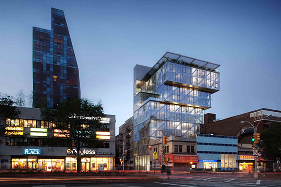 Rendering for 100 Norfolk Street in the Lower East Side