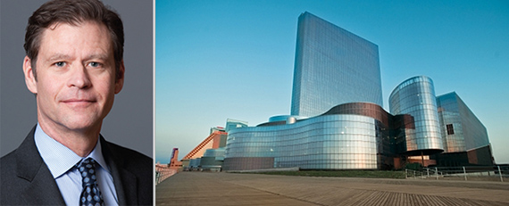 From left: Brookfield Property Partners CEO Ric Clark and Revel casino in Atlantic City