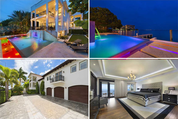 Le Bron James' Miami home