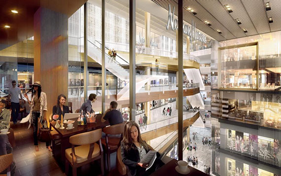 Rendering of Neiman Marcus' flagship store at Related Companies' Hudson Yards