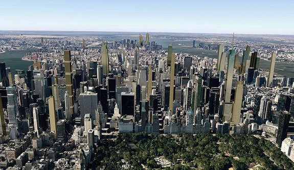 The Manhattan skyline in 2018, according to City Realty