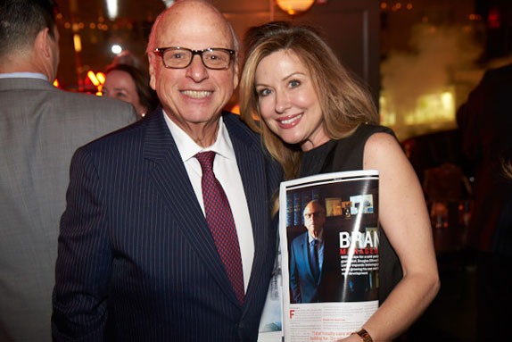 Howard Lorber with Elliman's Jennie Gourin