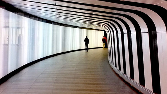 The tunnel that leads to London's Google Glass store