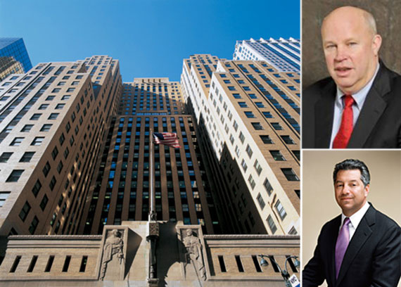 Clockwise from left: the Graybar Bulding at 420 Lexington Avenue, Thomas Prendergast and Marc Holliday