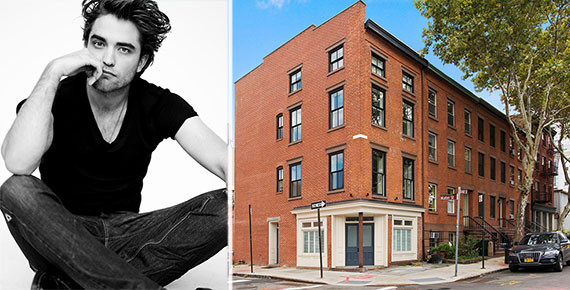 From left: Robert Pattinson and 69 Gold Street in Brooklyn