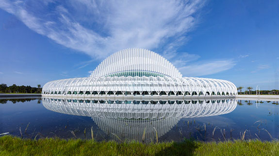 Florida Polytechnic's Innovation, Science, and Technology Building designed by Santiago Calatrava