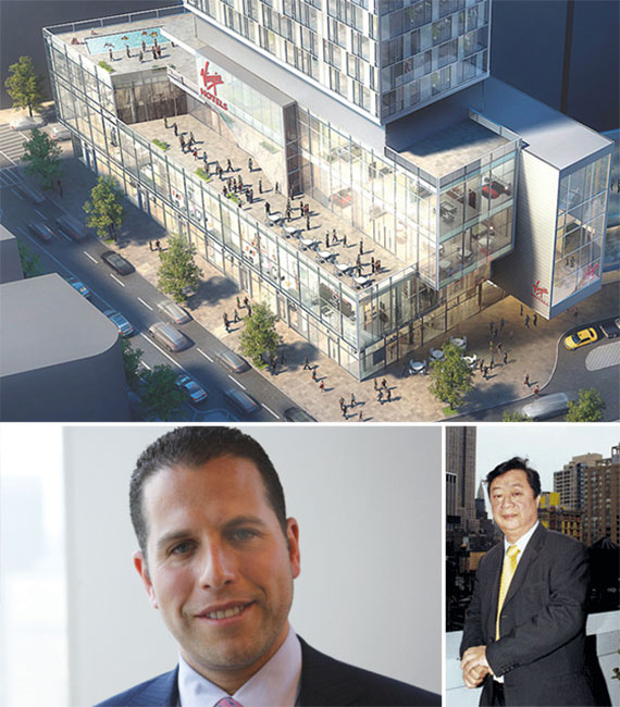 Clockwise from left: the new Virgin hotel in NoMad, Josh Zegen and John Lam