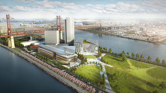 Rendering of the new Cornell Tech campus on Roosevelt Island